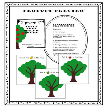 Counting Adapted Work Math Binder {Apples}