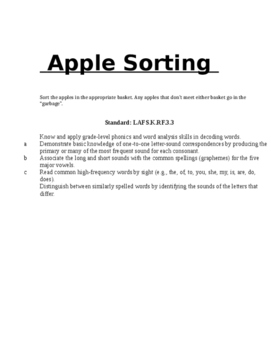 Apple Sorting