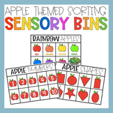 Apple Sorting Sensory Bin Matching