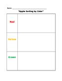 Apple Sorting Sheet - Color