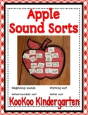 Apple Sound Sorts-A Differentiated Literacy Center