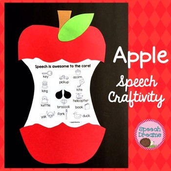 Apple Speech Craft for Speech and Language Therapy {language & articulation}