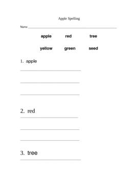 Apple Spelling Words