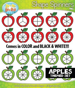 Apples Spinner Shapes Clipart {Zip-A-Dee-Doo-Dah Designs}