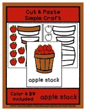 Apple Stack - Cut & Paste Craft - Super Easy Perfect for P