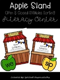 Apple Stand Open vs Closed Syllables Sort Literacy Center