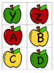 Apple Stand Upper and Lowercase Letters Sorting Center