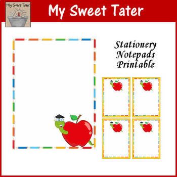 Apple Stationery and Notepads Printable