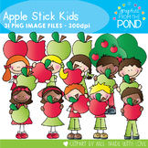 Apple Stick Kids - Clipart for Teaching