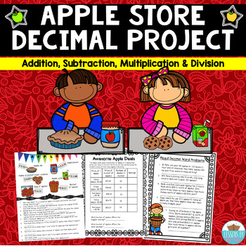 Apple Store Decimals Projects (Add, Subtract, Multiply, & Divide)