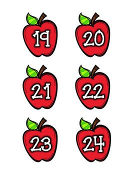 Apple Student Number Labels