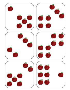 Apple Subitizing Cards {FREEBIE!}