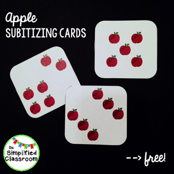 Apple Subitizing Cards {FREEBIE!}