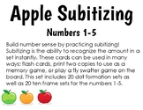 Apple Subitizing Flashcards Dot Patterns & Ten Frames 1-5