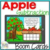 Boom Cards Apple Subtraction Freebie
