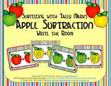 Apple Subtraction {Subitizing with Tally Marks}