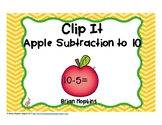 Apple Subtraction to 10 Clip It