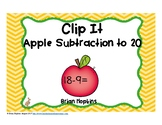Apple Subtraction to 20 Clip It