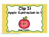 Apple Subtraction to 5 Clip It