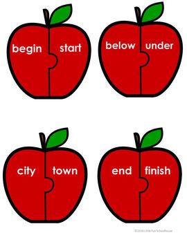 Synonym Apple Puzzles