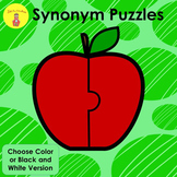 Synonym Apple Puzzles and Worksheets