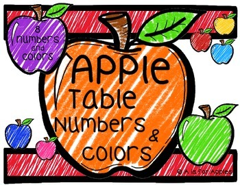 Apple Table Numbers and Table Colors {FREEBIE}