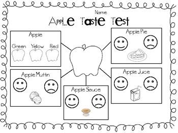 Apple Taste Test By Mandi Moore Teachers Pay Teachers