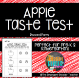 Apple Taste Test Record Sheet!