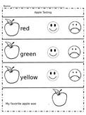 Apple Taste Test Recording Sheet