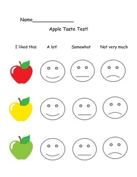 Apple Taste Test Worksheet by Teaching and Coffee | TpT