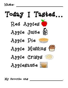 Apple Taste Test {a printable form}