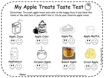 Apple Taste Test and Apple Treats Taste Test