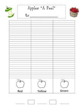 """Apples """"A Peel"""" To - Taste Test and Graph"""