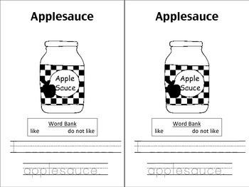 Apple Tasting Data Booklet