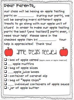 Apple Tasting Party!