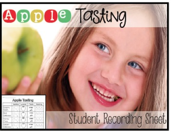 Apple Tasting Recording Sheet