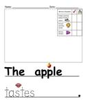 Apple Tasting Writing