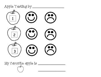 Apple Tasting in Pre-K