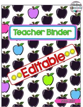 Apple Teacher Binder {editable}