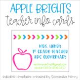 Apple Teacher Info Cards