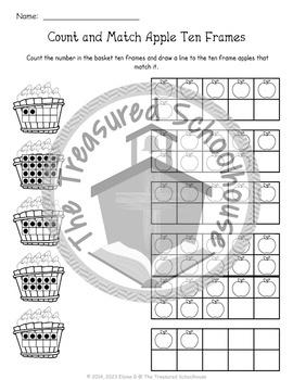 Apple Ten Frame 2-Part Cards for 0-20