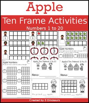 Apple Ten Frame Activities (1-20)
