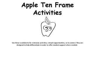 Apple Ten Frame Activities