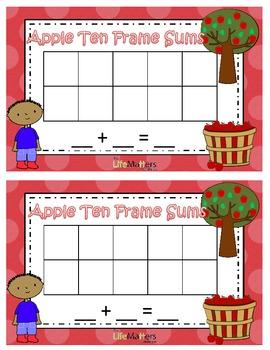 Apple Ten Frame Addition