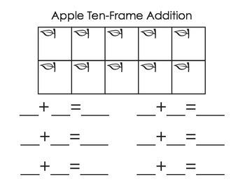Apple Ten-Frame Addition