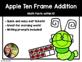 Apple Ten Frame Addition Packet