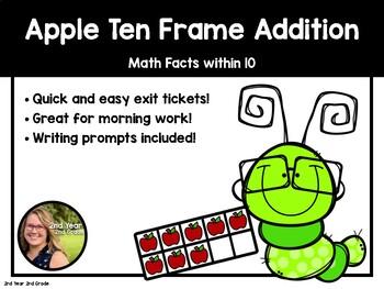 Apple Ten Frame Addition Packet