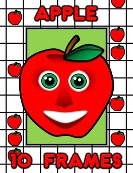 Apple Ten Frame Counting and Math Activity