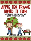 Apple Ten Frame Fun-Self-Correcting, Differentiated and Aligned to Common Core