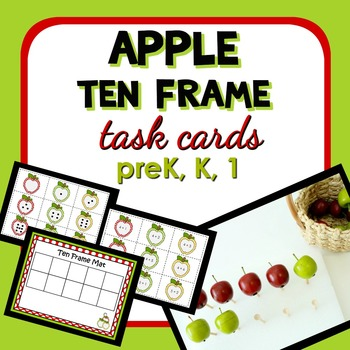 Apple Ten Frame Math Task Cards